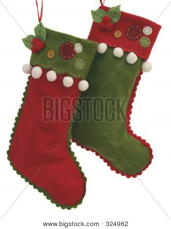 Red And Green Felt Stockings