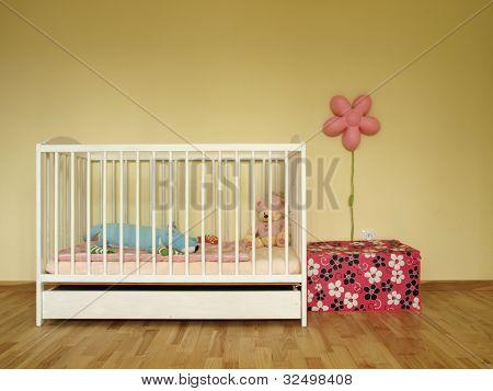 Cot In Baby Room