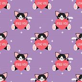 Valentines Day Seamless Pattern. poster