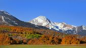 Autumn landscape in Colorado rocky mountains along scenic byway 12 poster