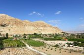 stock photo of jericho  - Mount of Temptation in Jericho - JPG