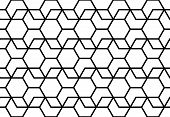 The Geometric Pattern With Lines. Seamless Vector Background. White And Black Texture. Graphic Moder poster