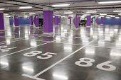 Underground Parking, Garage. Interior Of Parking. Empty Parking For Cars poster