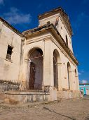 The Cathedral on the  colonial town of Trinidad in Cuba, a famous touristic landmark on the island poster