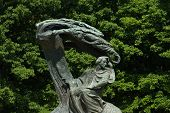 stock photo of chopin  - chopin monument in a park in poland - JPG