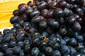 Spoiled Black Grapes. Rotten Grape Berries. Selling Spoiled Fruit. The Grape Juice. Overripe Grape B poster