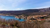 View Of A Croatian Village On The Dalmation Coast poster