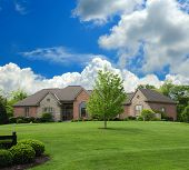 Brick And Stone Suburban Ranch Style Home