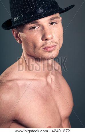 Bald Man In Black Hat