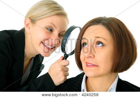 Inspector Analyze Businesswoman