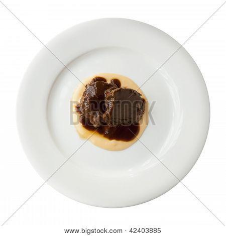 Iberian Pork With Pedro Ximenez Sauce Isolated