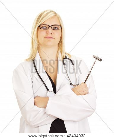 Medical Doctor With Reflex Hammer
