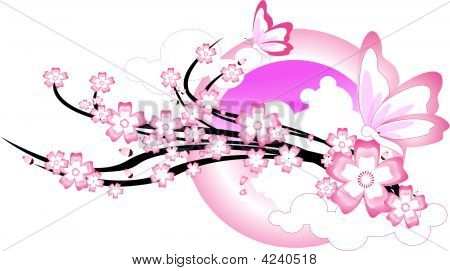 Pink Butterfly.Eps