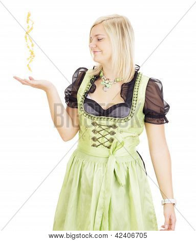 A Young Woman Performing Magic