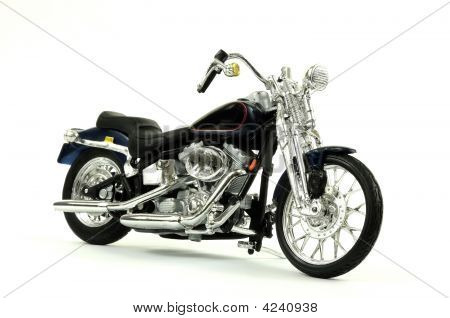 Vintage Motorcycle Isolated On White