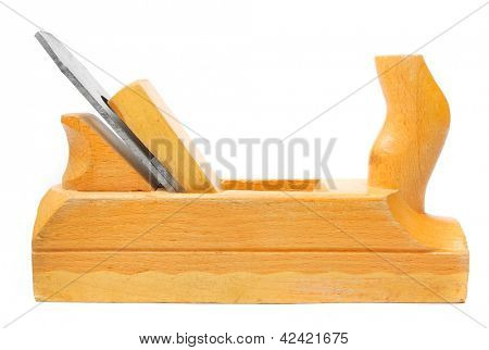 Wooden planer isolated on a white background.