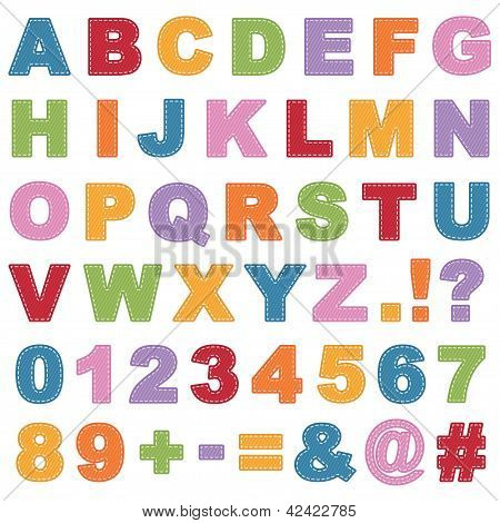Stitched Alphabet