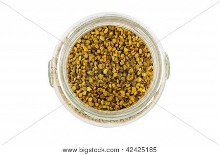 Pollen In A Glass Pot