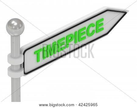 Palavra de relógio ponteiro de seta