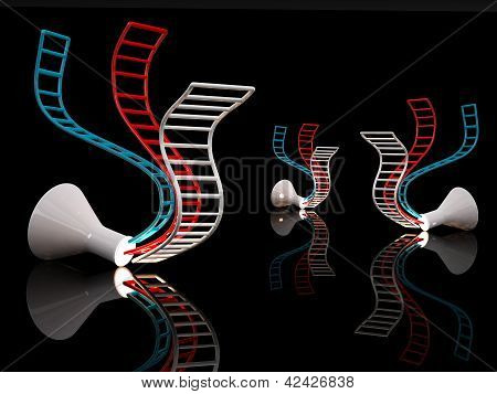 Dna Concept. 3D Illustration On Black Background