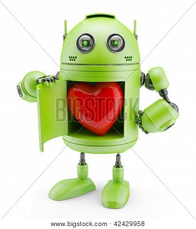 Robô mostra coração