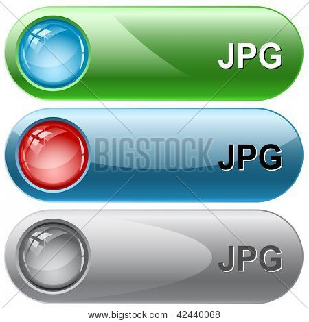 Jpg. Internet buttons. Raster illustration. Vector version is in my portfolio.
