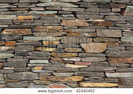 New Build Flush Dry Stone Wall