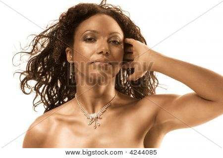 Beauty Portrait Of Gorgeous Middle Aged Ethnic Woman