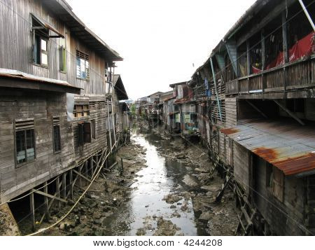 Dirty Heart Of Fishing Village, Indonesia