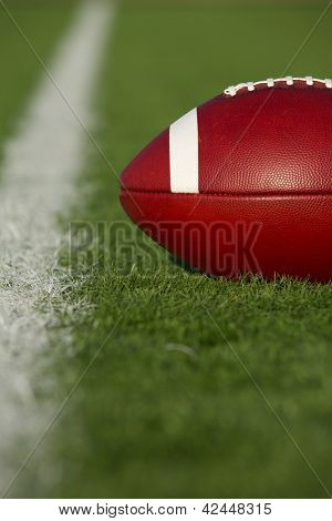 American Football on the Field near the Yard Line
