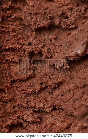 Homemade chocolate ice cream texture as dark background