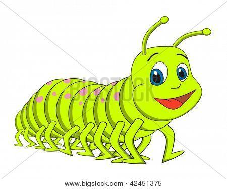 Ilustración de vector Caterpillar ciempiés dibujos animados