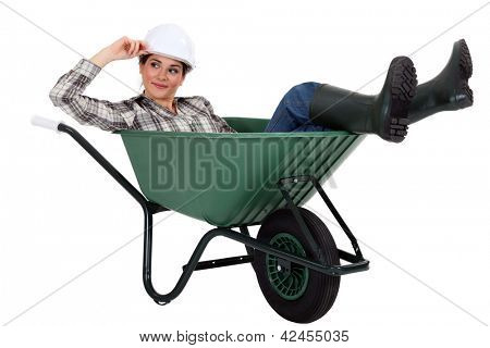 Women in cart