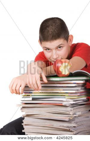 Boy With Magazines