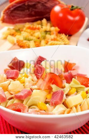 Close Up To Macaroni Salad