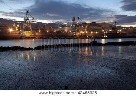 Cranes In Sestao, Bizkaia, Basque Country, Spain