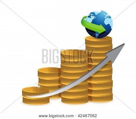 Coin Graph Globe
