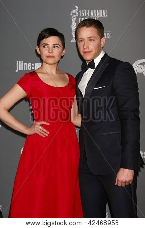 LOS ANGELES - FEB 19:  Ginnifer Goodwin, Josh Dallas arrives at the 15th Annual Costume Designers Guild Awards at the Beverly HIlton Hotel on February 19, 2013 in Beverly Hills, CA