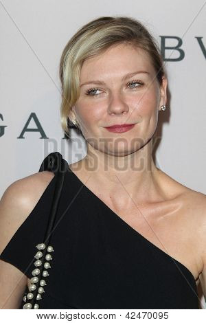 LOS ANGELES - FEB 19:  Kirsten Dunst arrives at the BVLGARI Celebrates Elizabeth Taylor's Jewelry Collection at the BVLGARI on February 19, 2013 in Beverly Hills, CA