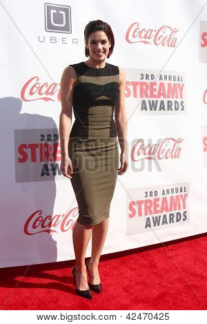 LOS ANGELES - FEB 17:  Missy Peregrym arrives at the 2013 Streamy Awards at the Hollywood Palladium on February 17, 2013 in Los Angeles, CA