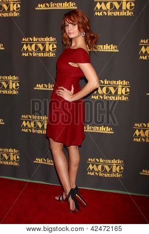 LOS ANGELES - FEB 15:  Debby Ryan arrives at the 2013 MovieGuide Awards at the Universal Hilton Hotel on February 15, 2013 in Los Angeles, CA