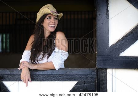 Cowgirl Laughing