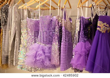 ZAGREB, CROATIA - FEBRUARY 9: Cocktail dresses presented on a fashion exhibition 'Wedding expo', on February 9, 2013 in Zagreb, Croatia.