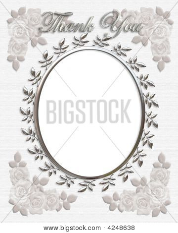Thank You Card Wedding Frame Oval