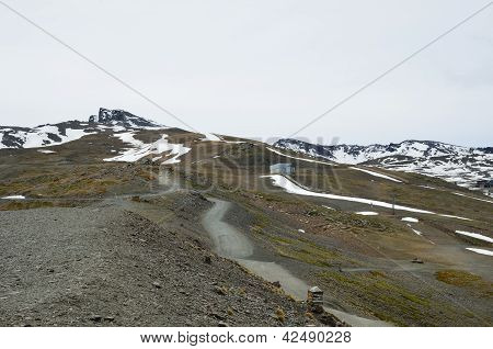 Spring Slopes Of The Mountain Veleta
