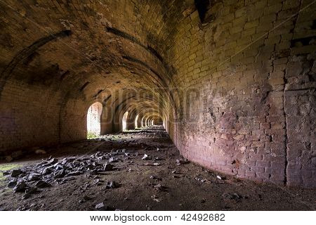 Old, Abandoned Brickyard (inside Stove) In Poland