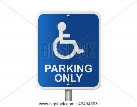 Handicap Parking Only Sign
