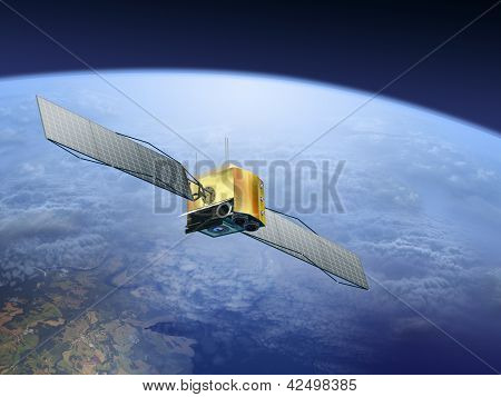 satellite over the Earth