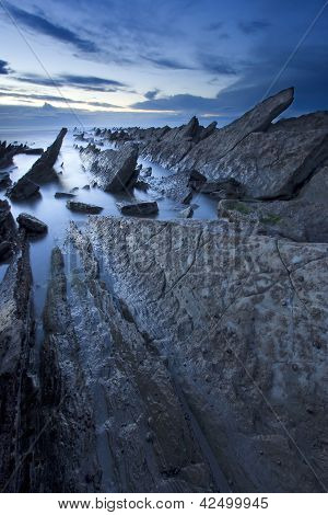 Beach Of Barrika, Bizkaia, Basque Country, Spain
