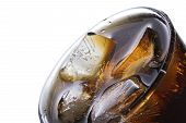 stock photo of coca-cola  - ice in cola macro a top view - JPG